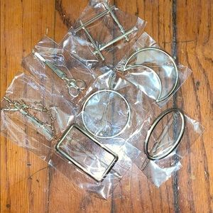 7 NWOT costume jewelry hair clothes brooches